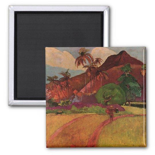 Paul Gauguin's Tahitian Landscape (1893) Magnet