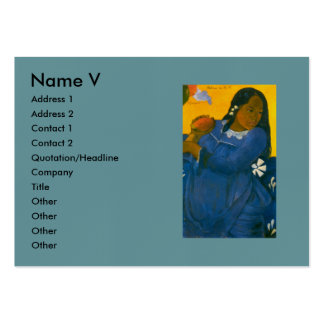 Paul Gauguin's Woman with a Mango (1892) Large Business Cards (Pack Of 100)