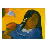 Paul Gauguin's Woman with a Mango (1892) Greeting Cards