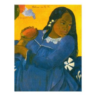 "Paul Gauguin's Woman with a Mango (1892) 8.5"" X 11"" Flyer"