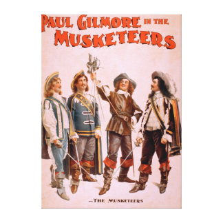 Paul Gilmore in The Musketeers Theatrical Canvas Print