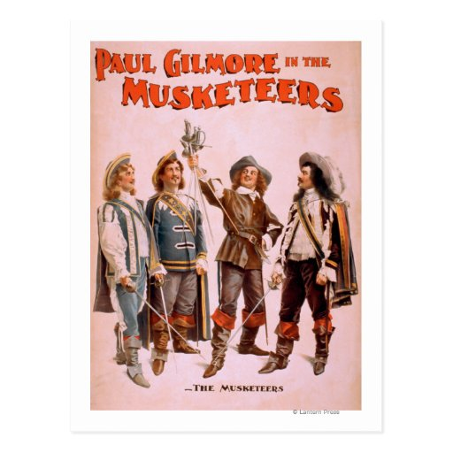 Paul Gilmore in The Musketeers Theatrical Postcard