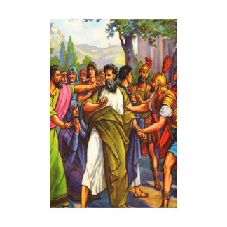 Paul going to prison Wrapped Canvas Stretched Canvas Prints