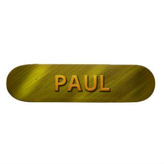 paul gold custom skateboard deck by mantisgraffix