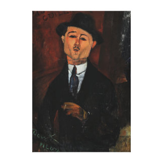 Paul Guillaume, Novo Pilota by Amedeo Modigliani Canvas Print
