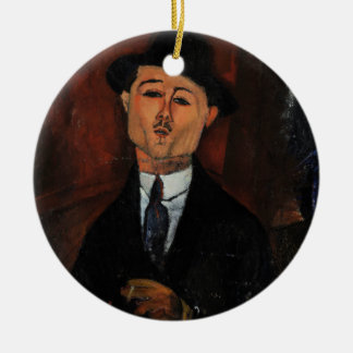 Paul Guillaume, Novo Pilota by Amedeo Modigliani Ceramic Ornament