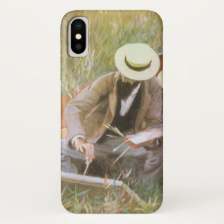 Paul Helleu Sketching with His Wife by Sargent iPhone X Case