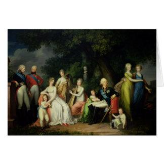 Paul I , Maria Feodorovna  and their Children Card