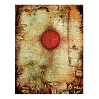 Paul Klee Ad Marginem Painting Postcard