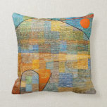 Paul Klee art: Ad Parnassus Throw Pillow