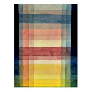 Paul Klee art: Architecture of the Plain Postcard