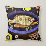 Paul Klee art: Aroundfish Throw Pillow