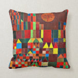 Paul Klee art: Castle and Sun Throw Pillow