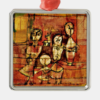 Paul Klee art: Children and Dog Metal Ornament
