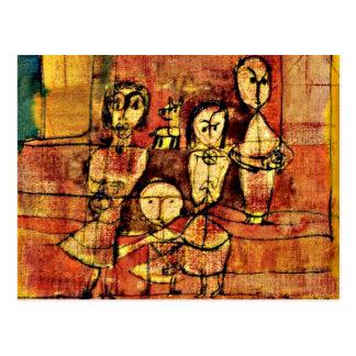 Paul Klee Art: Children and Dog Postcard