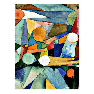 Paul Klee art: Colour-Shapes Postcard