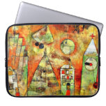 Paul Klee art: Fateful Hour, famous Klee painting Laptop Computer Sleeves