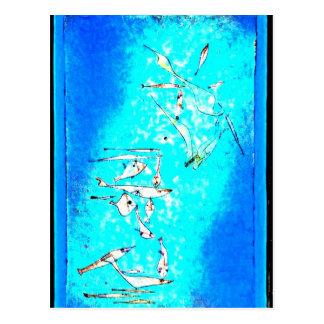 Paul Klee art: Fish Image, paintiing by Klee Postcard