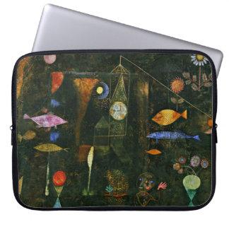 Paul Klee art: Fish Magic, famous Klee painting Computer Sleeve