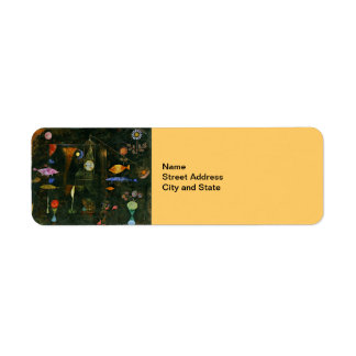 Paul Klee art: Fish Magic, famous Klee painting Label