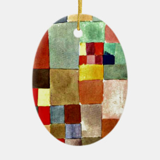 Paul Klee art: Flora on Sand, famous painting Ceramic Ornament
