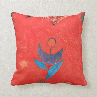Paul Klee art - Flower Myth famous Klee painting Pillow