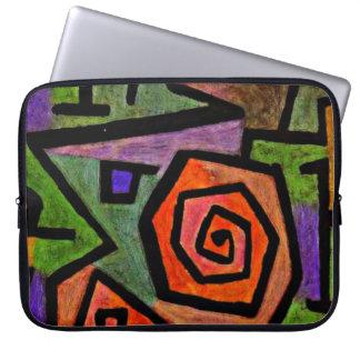 Paul Klee art: Heroic Roses, famous Klee painting Laptop Sleeve