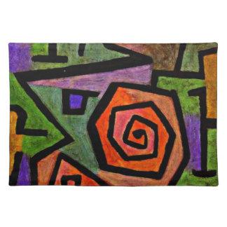 Paul Klee art: Heroic Roses Placemat