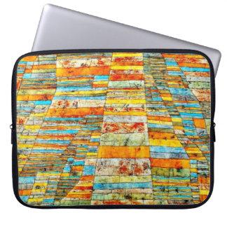 Paul Klee art: Highway and Byways Computer Sleeve