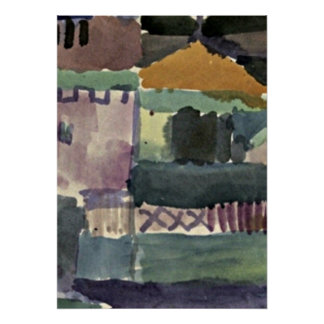 Paul Klee art: In the Houses of St. Germain Poster