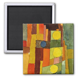 Paul Klee art: In the Style of Kairouan 2 Inch Square Magnet