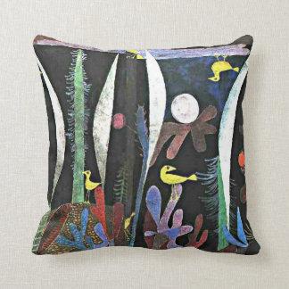 Paul Klee art: Landscape with Yellow Birds Throw Pillow