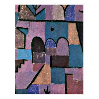 Paul Klee art: Oriental Garden Postcard
