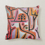 Paul Klee art - Park Bei Lu Throw Pillows