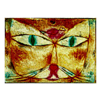Paul Klee art poster: Cat and Bird Poster