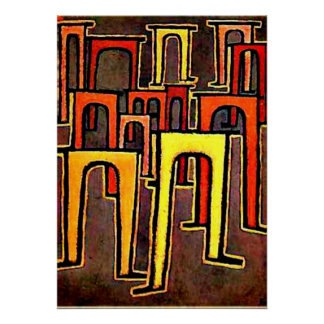 Paul Klee art - Revolution of the Viaduct-1937 Poster
