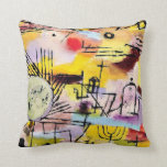 Paul Klee art: Rising Sun Pillows