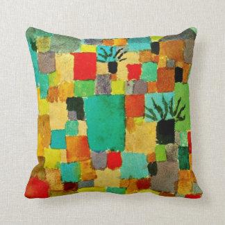Paul Klee art - Southern (Tunisian) Gardens Throw Pillow