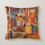 Paul Klee art: Temple Gardens Pillow