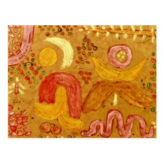 Paul Klee art: The Garden in Hot Weather Postcard