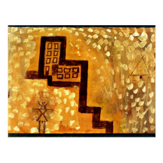 Paul Klee art: The House on High Postcard