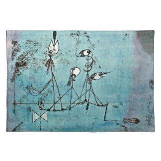 Paul Klee art: Twittering Machine Cloth Placemat