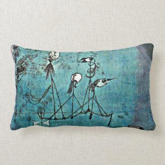 Paul Klee art: Twittering Machine Lumbar Pillow