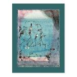 Paul Klee art: Twittering Machine Post Card