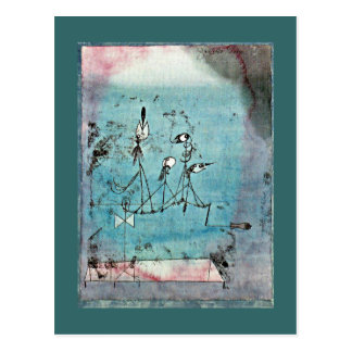 Paul Klee art: Twittering Machine Postcard