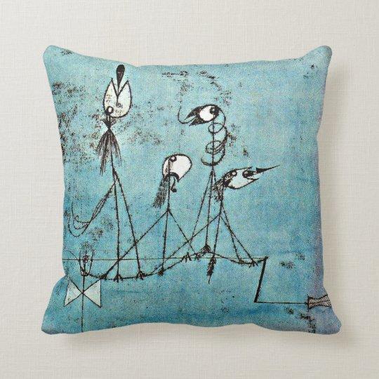 Twittering Machine >> Paul Klee Art Twittering Machine Throw Pillow Zazzle Com