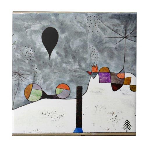 Paul Klee Art Winter Painting Ceramic Tile Zazzle