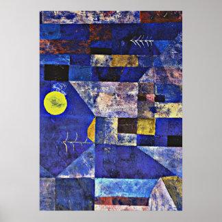 Paul Klee artwork, Moonlight Poster