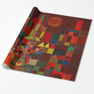 Paul Klee Castle And Sun Abstract Modern Fine Art Wrapping Paper