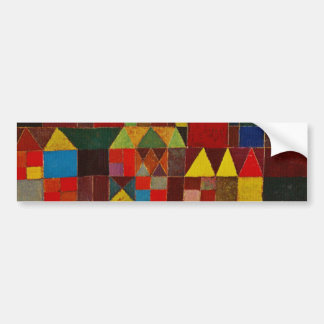 Paul Klee Castle And Sun Bumper Sticker